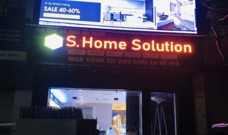 Thi công biển quảng cáo cho cửa hàng S.Home Solution
